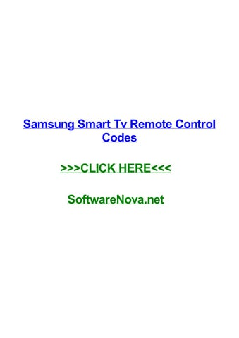 Samsung smart tv remote control codes by rachelnobdb - issuu