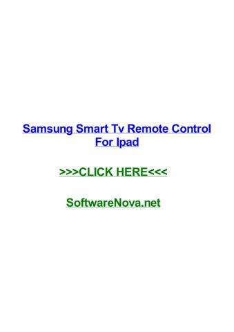 Samsung smart tv remote control for ipad by angelinaubmmi