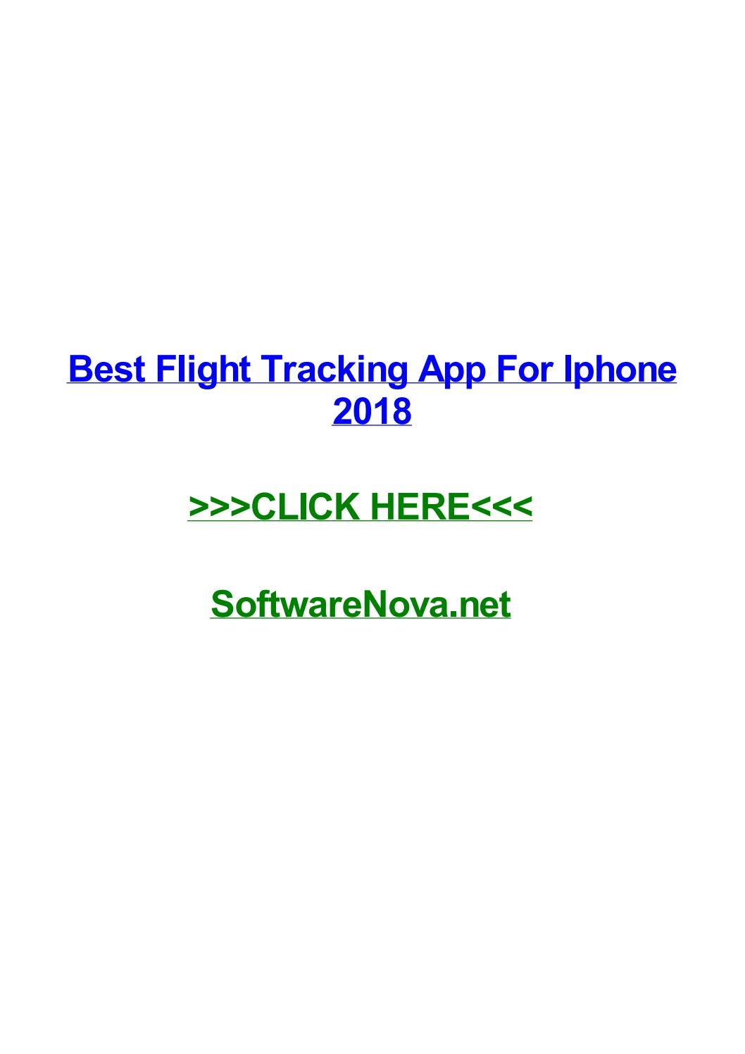 Best flight tracking app for iphone 2018 by doreenrjjr - issuu