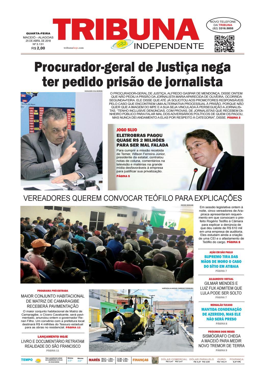 086416cefd Edição número 3131 - 25 de abril de 2018 by Tribuna Hoje - issuu