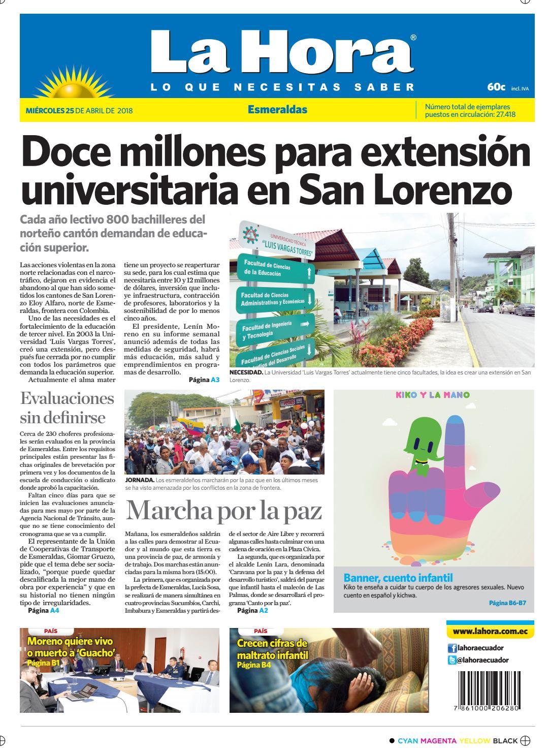 Esmeraldas 25 de abril de 2018 by Diario La Hora Ecuador - issuu