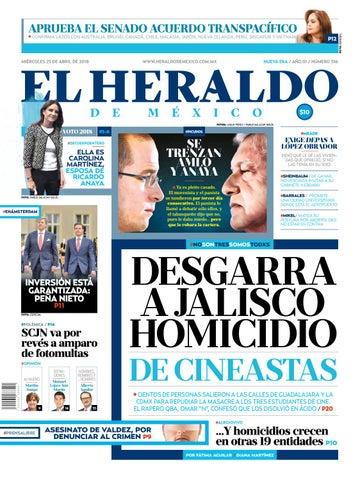 8cdce3462 Heraldo 25 de abril by El Heraldo de México - issuu