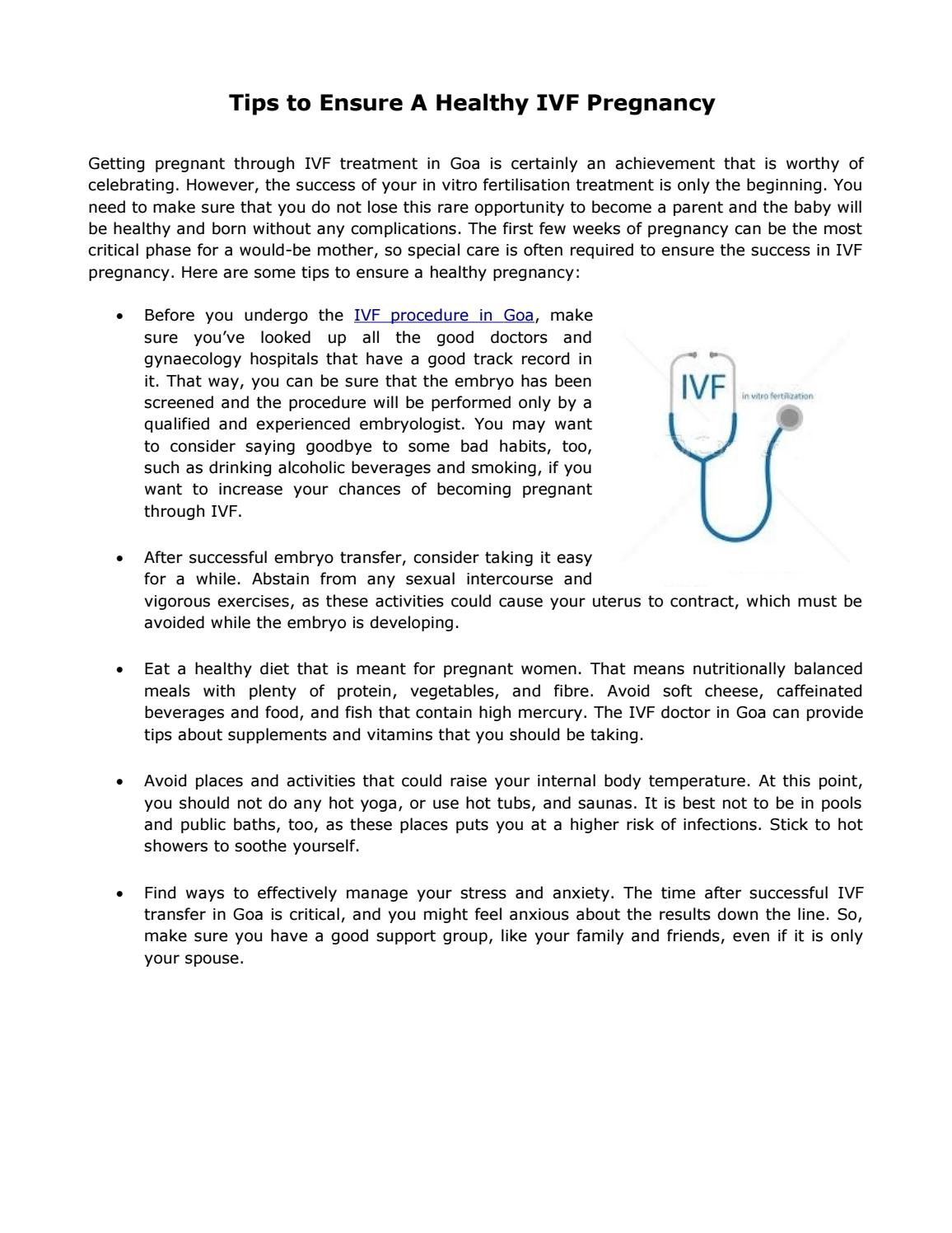 Tips to Ensure A Healthy IVF Pregnancy by Pai Hospital - issuu