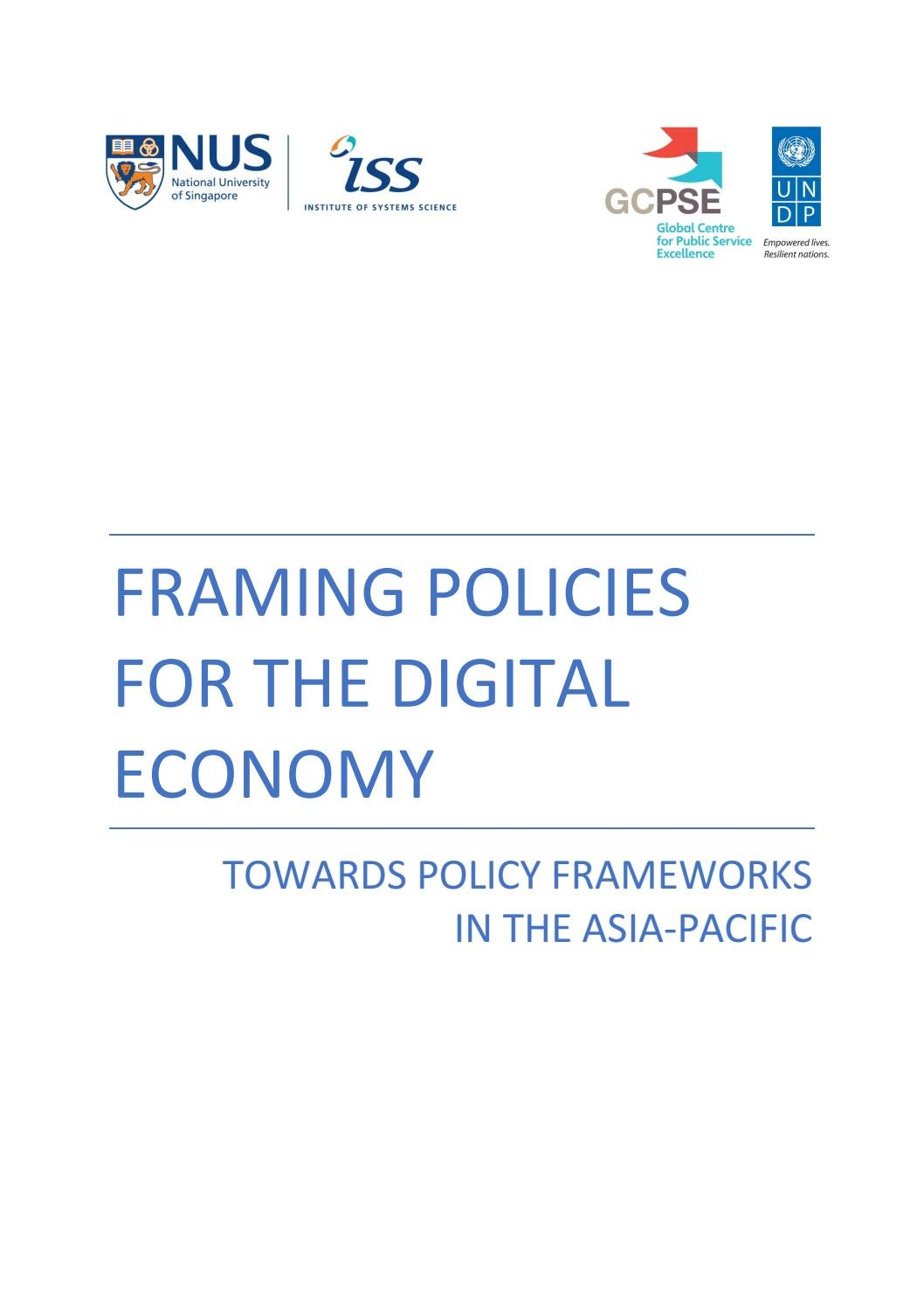 Framing Policies for the Digital Economy by UNDP Global