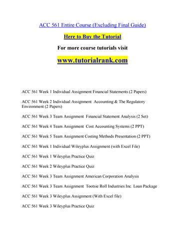 acc 561 possible is everything tutorialrank com by prescottlunt51 rh issuu com