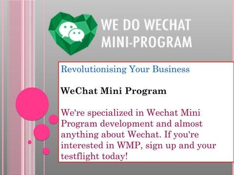 Wechat mini program by wechatminiprogram - issuu