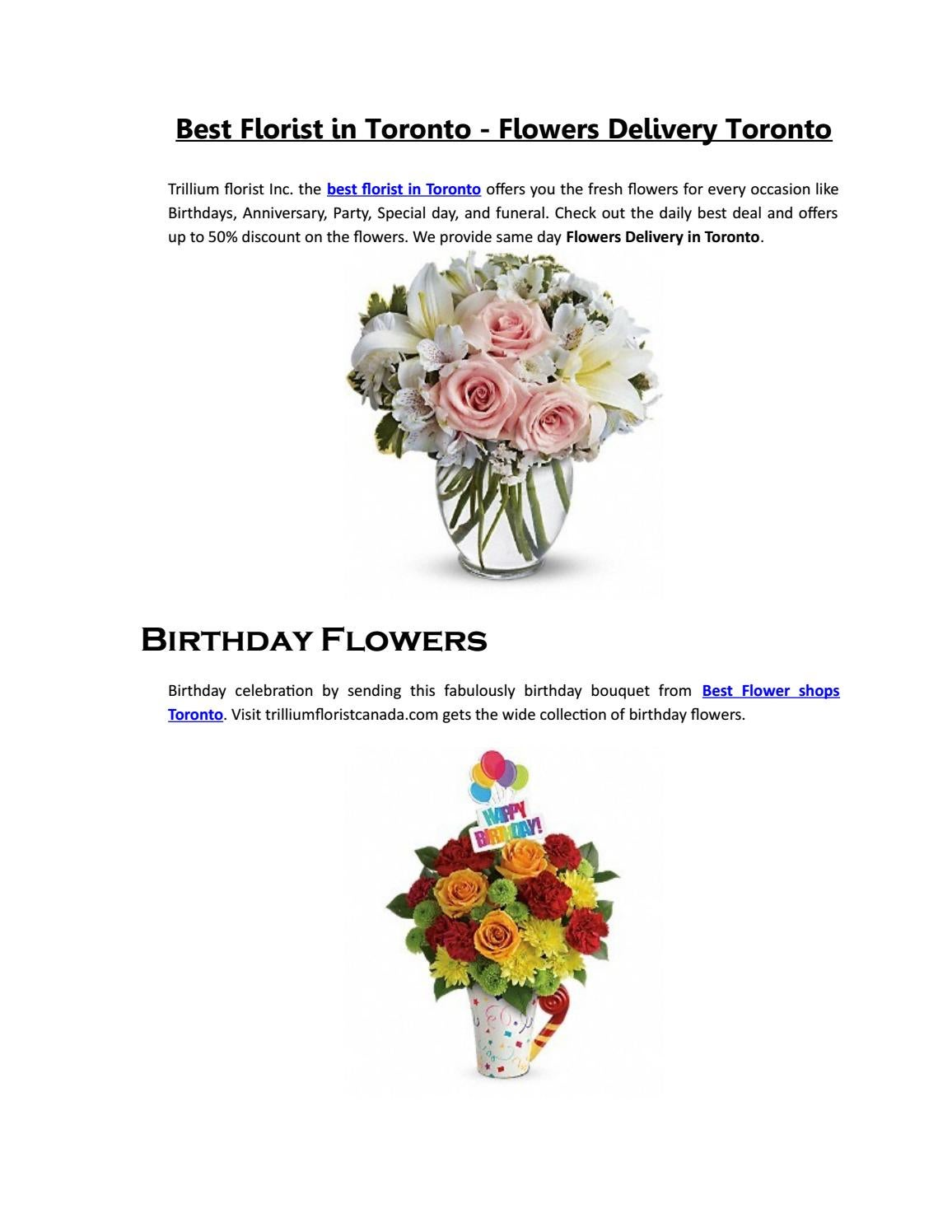 Best florist in toronto flowers delivery toronto by trillium best florist in toronto flowers delivery toronto by trillium florist canada issuu izmirmasajfo