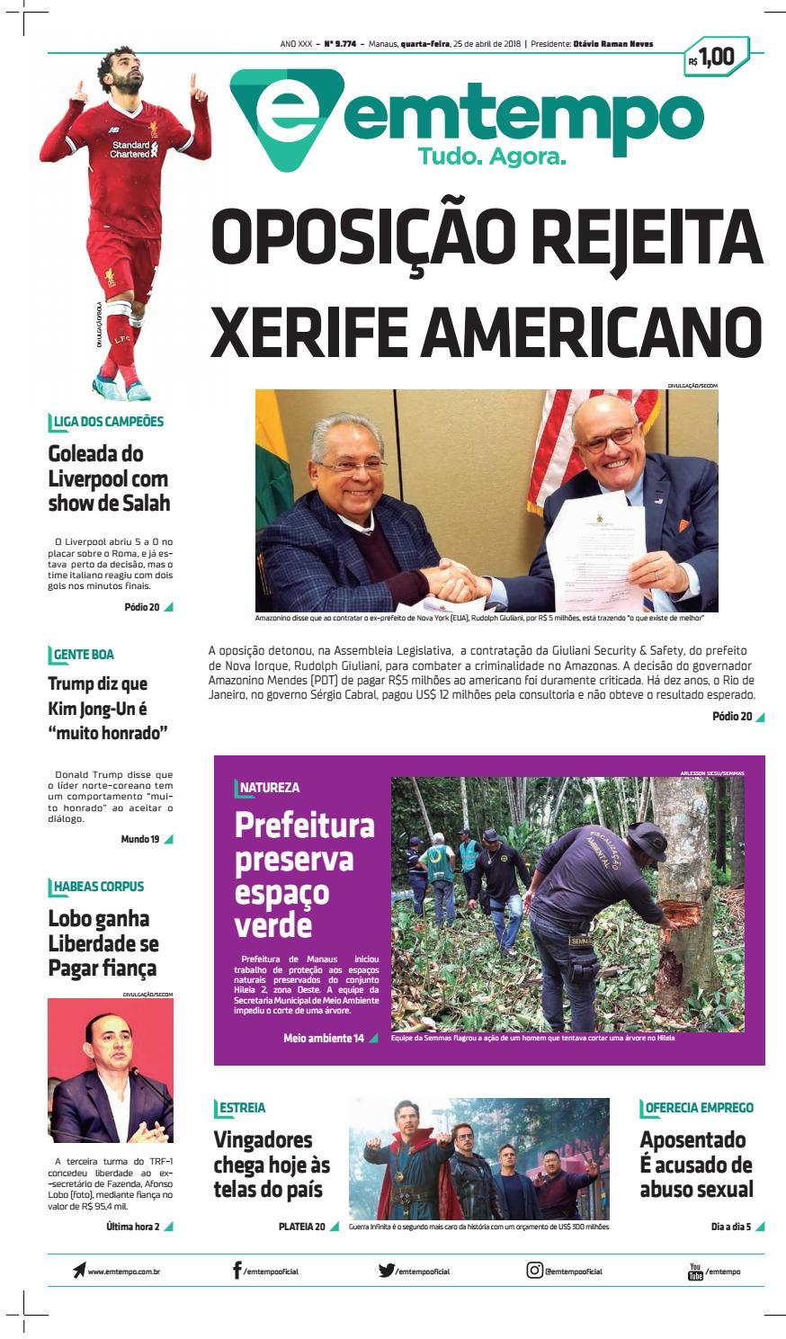 a3a6b92bc Em tempo 25 de abril de 2018 by Amazonas Em Tempo - issuu