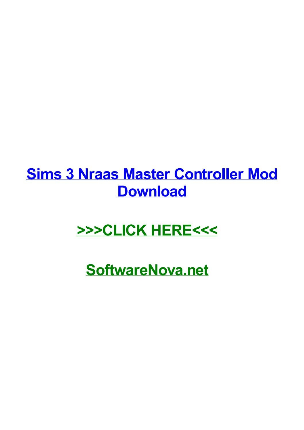 Sims 3 nraas master controller mod download by ronctyt - issuu