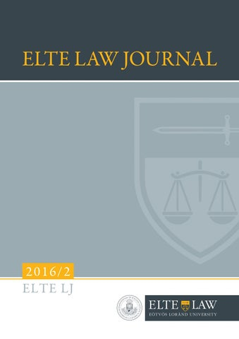 Elj 2016 2 web by ELTE Law Journal - issuu