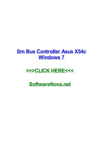 DOWNLOAD DRIVERS: ASUS X54C SM BUS CONTROLLER