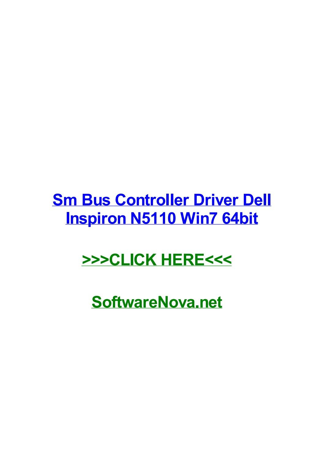 Dell inspiron n5110 drivers backup for windows 7