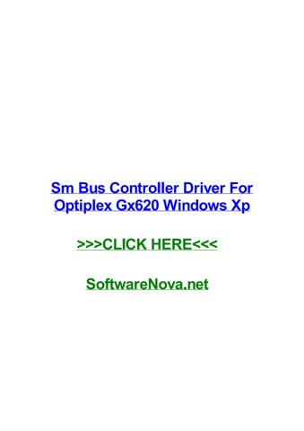 DELL OPTIPLEX 620 SM BUS CONTROLLER WINDOWS 10 DRIVERS DOWNLOAD