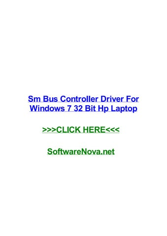 pilote controleur de bus sm windows 7 32bit