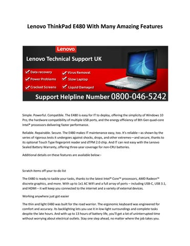 Lenovo support number by sumanthsinghvp - issuu