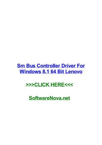 LENOVO SM BUS CONTROLLER DRIVER (2019)