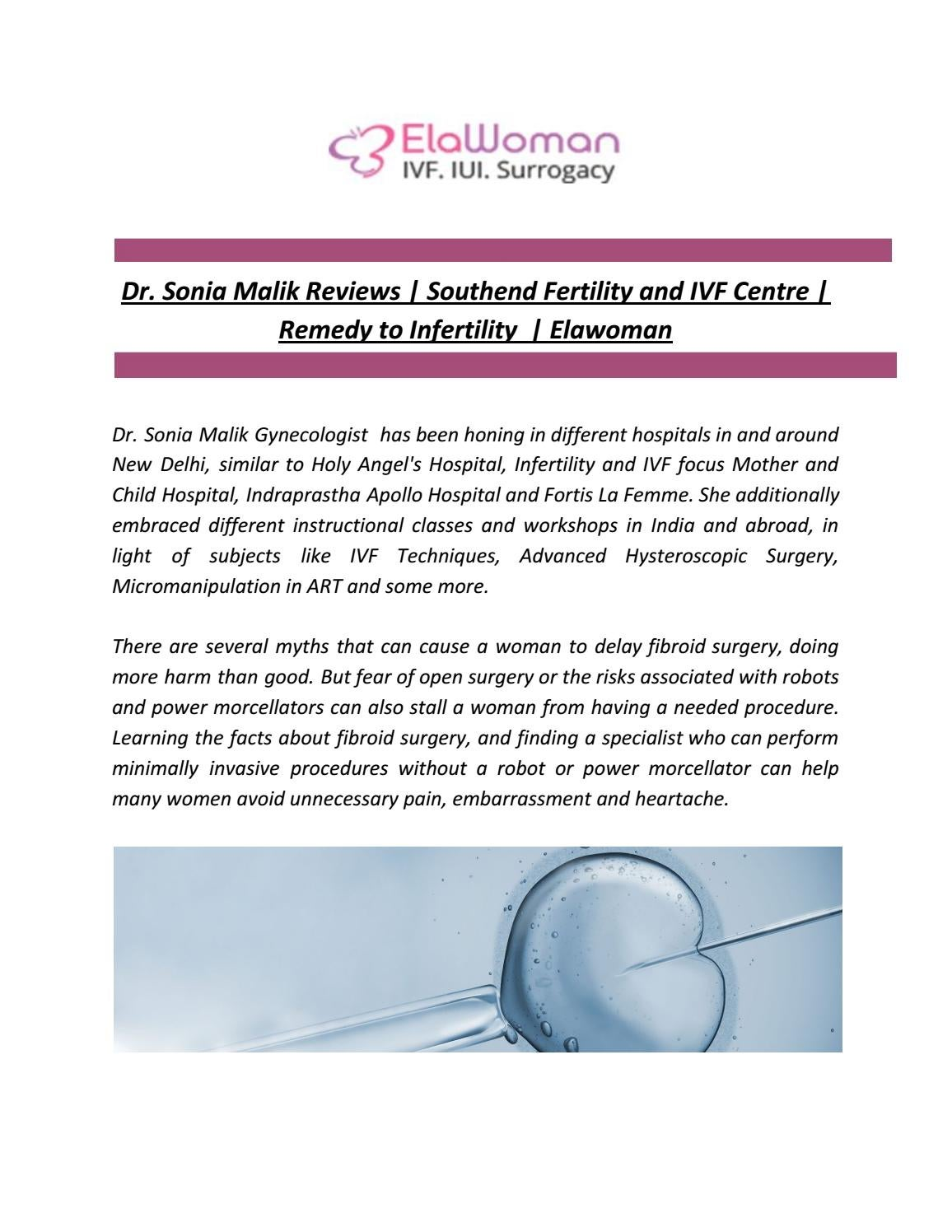Dr  Sonia Malik Reviews | Southend Fertility and IVF Centre