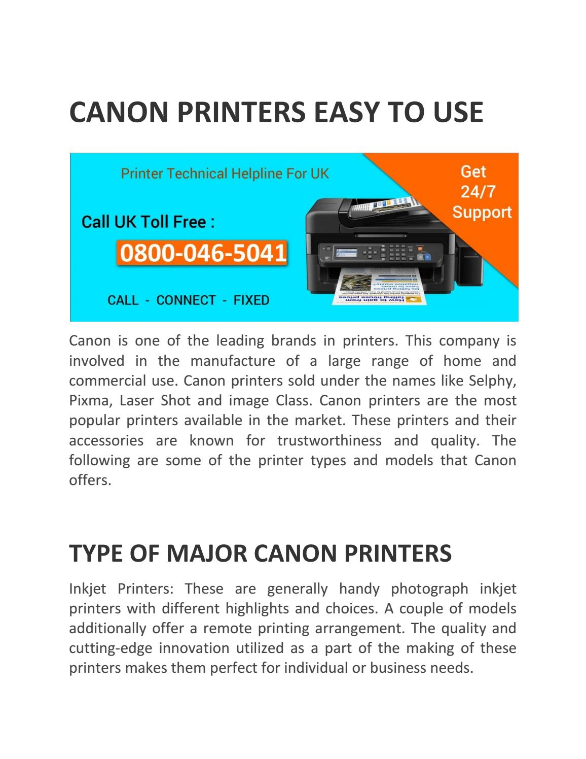 Canon contact number by Naomiwilliams - issuu