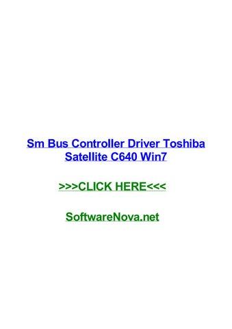 TOSHIBA LAPTOP SM BUS CONTROLLER WINDOWS 8 X64 DRIVER
