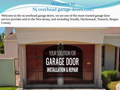 Welcome To Nj Overhead Garage Doors.com/ Welcome To The Nj Overhead Garage  Doors, We Are One Of The Most Trusted Garage Door Service Provider And In  The New ...