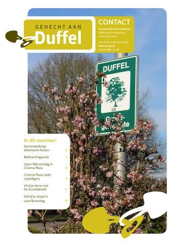 d8762802365 Contact 2018 - nummer 3 (mei juni) by Gemeente Duffel - issuu