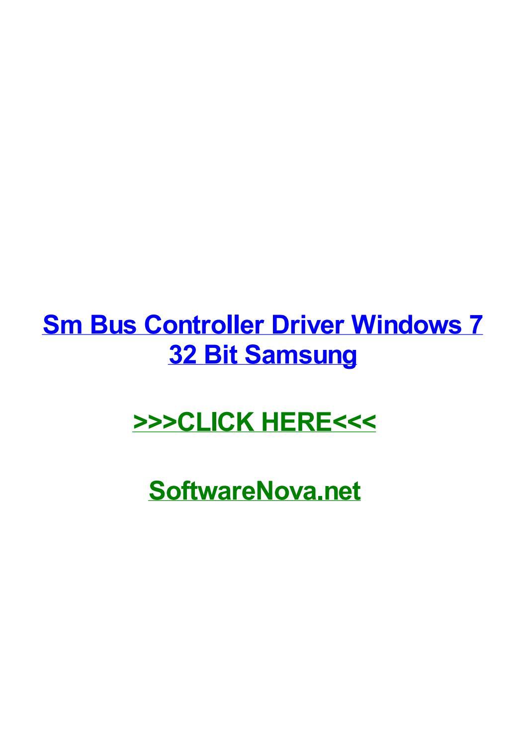 Sm bus controller driver windows 7 64 bit samsung.