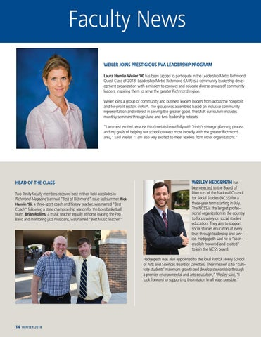 Page 16 of Faculty News