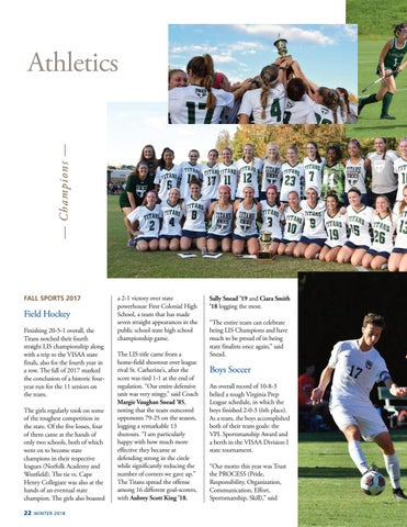 Page 24 of Fall 2017 Athletics