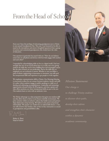 Page 2 of From the Head of School