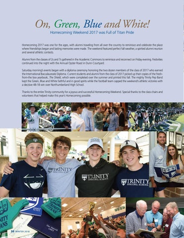 Page 32 of Homecoming Weekend Fall 2017