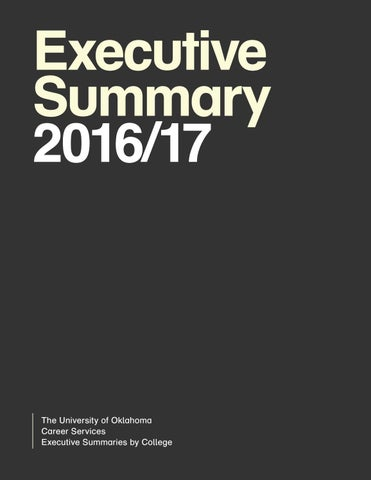 Executive Summary 2016/17 by OU Career Services - issuu