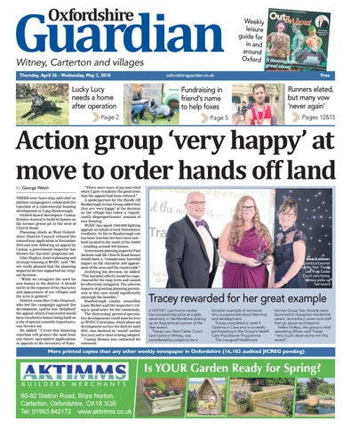 543da123 26 april 2018 oxfordshire guardian witney by Taylor Newspapers - issuu