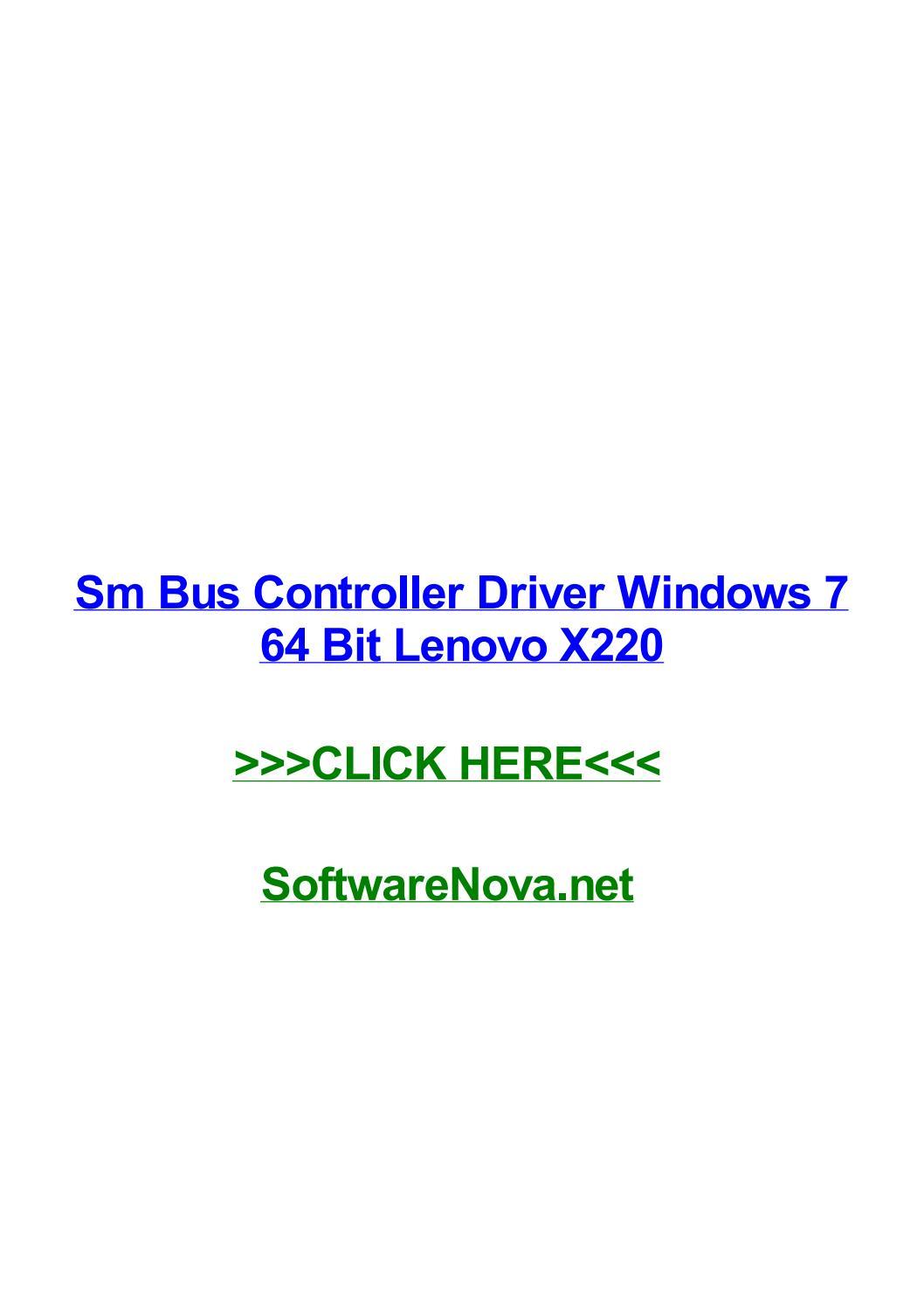 Sm bus controller driver windows 7 64 bit lenovo x220 by