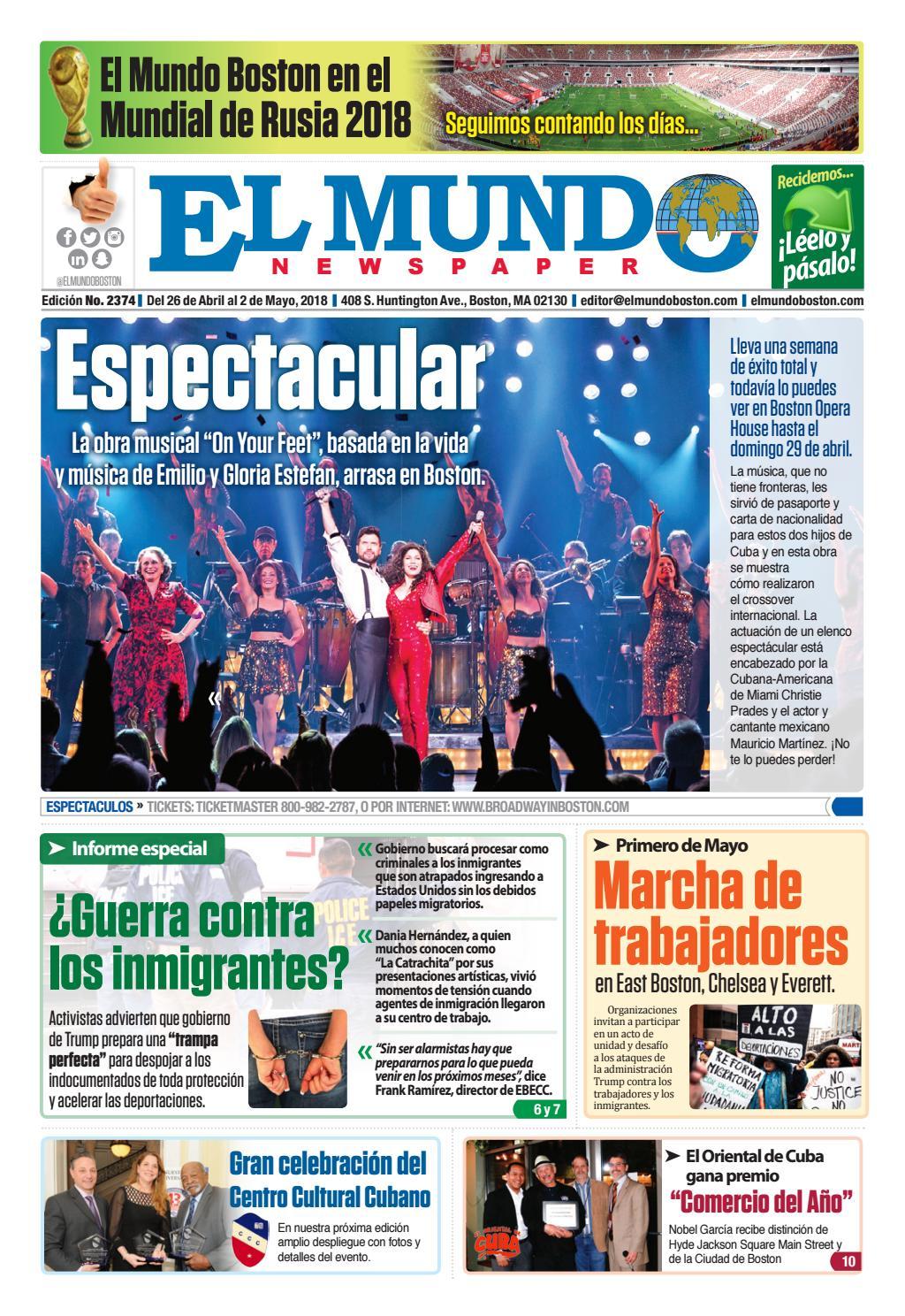 El Mundo Boston | Newspaper | Apr 26, 2018 by El Mundo Boston ...