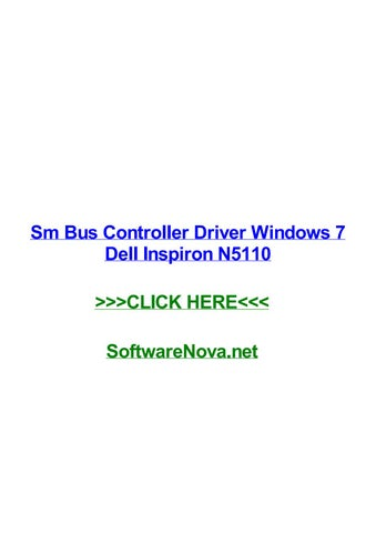 dell inspiron n5110 drivers usb