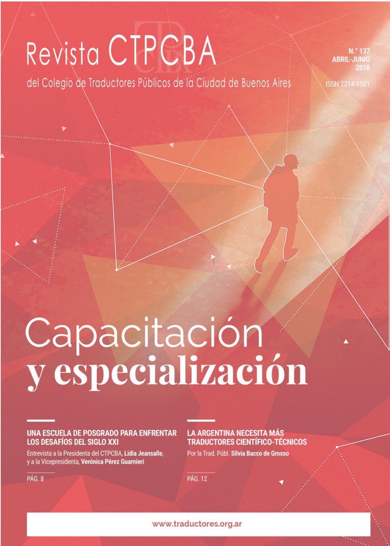 Revista CTPCBA N.º 137 by Colegio de Traductores Públicos de la ...
