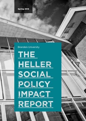 Heller Impact, Spring 2018 by Brandeis University - issuu