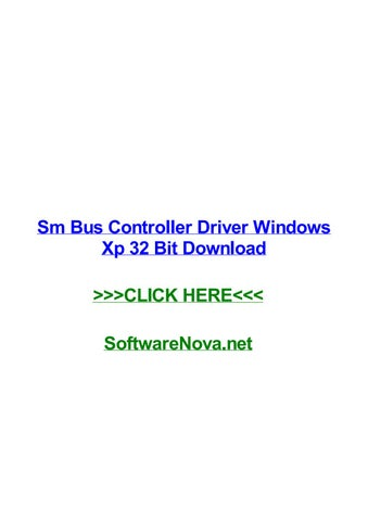 driver controleur de bus sm xp