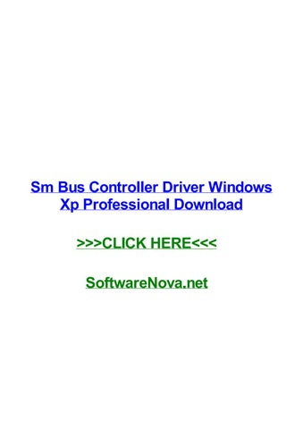 Download and install synaptics synaptics smbus driver driver id.