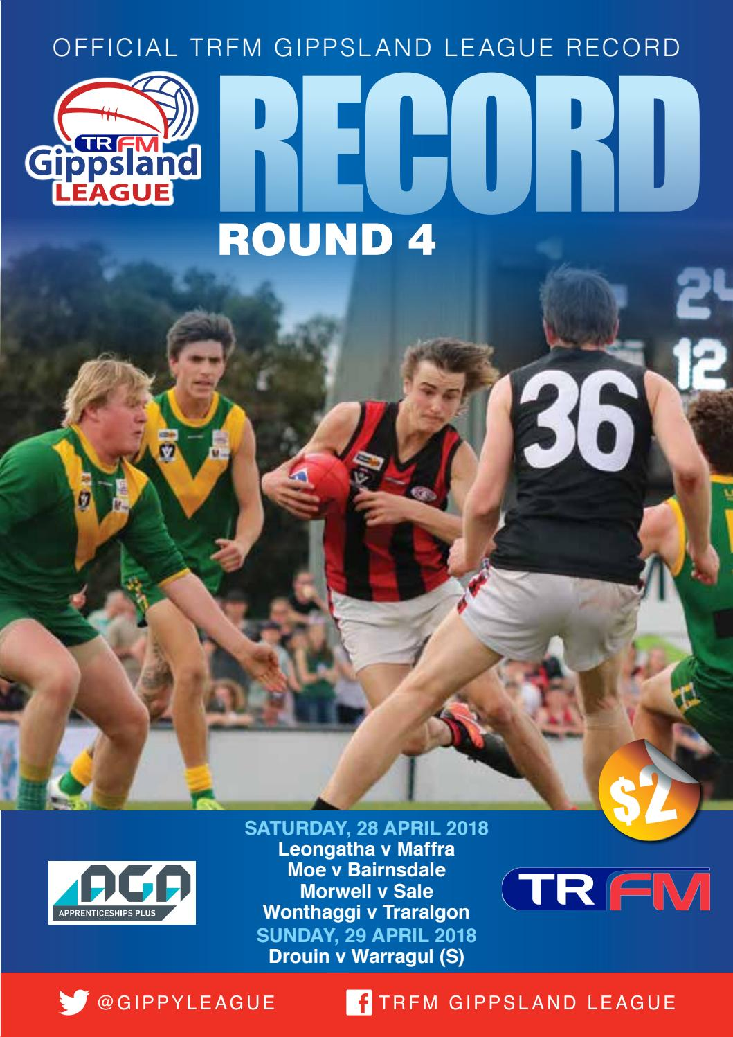 Gippsland 2018 Record Round 4 By Adcell Group Issuu