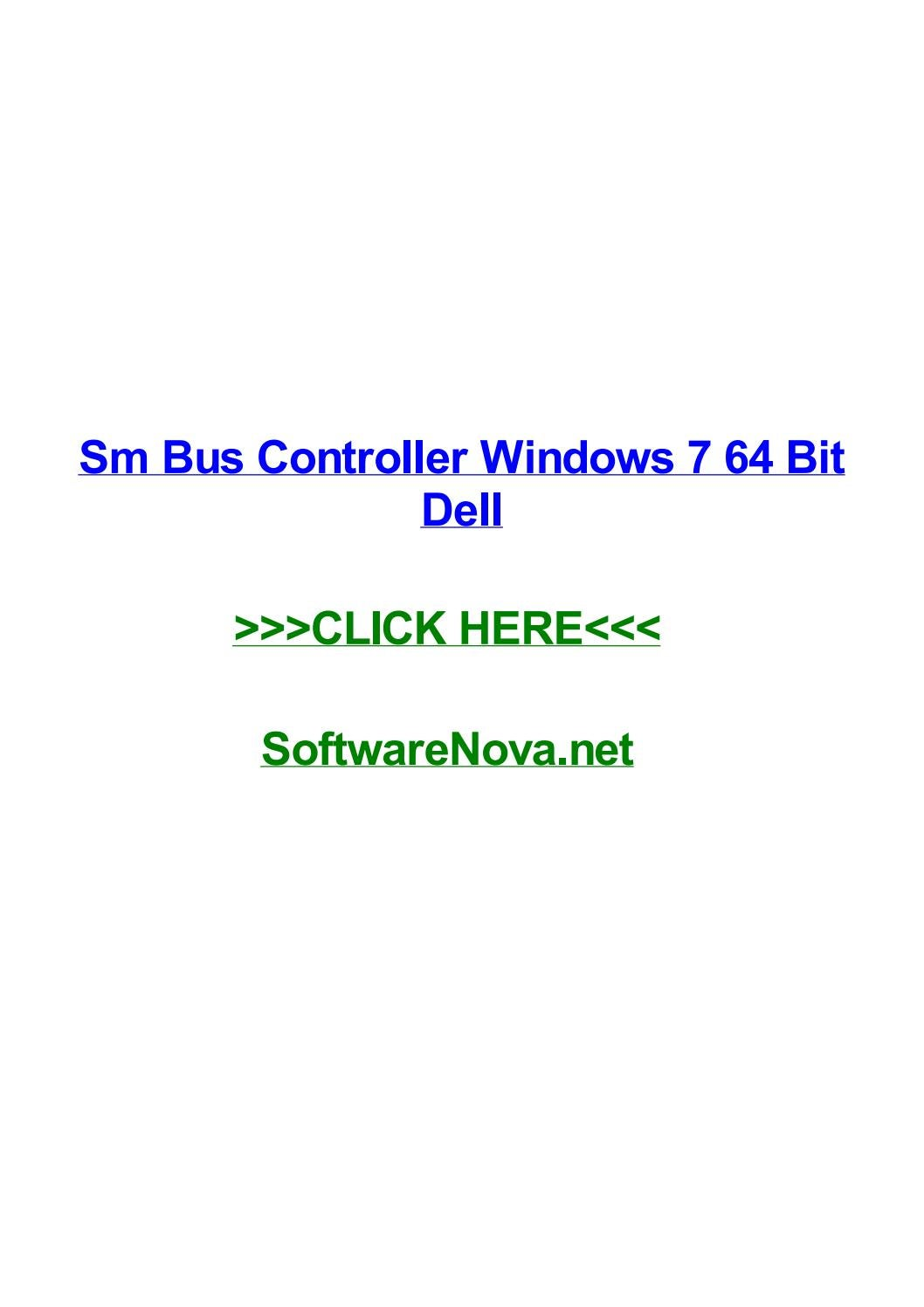 TÉLÉCHARGER CONTROLEUR DE BUS SM WINDOWS 7 DELL