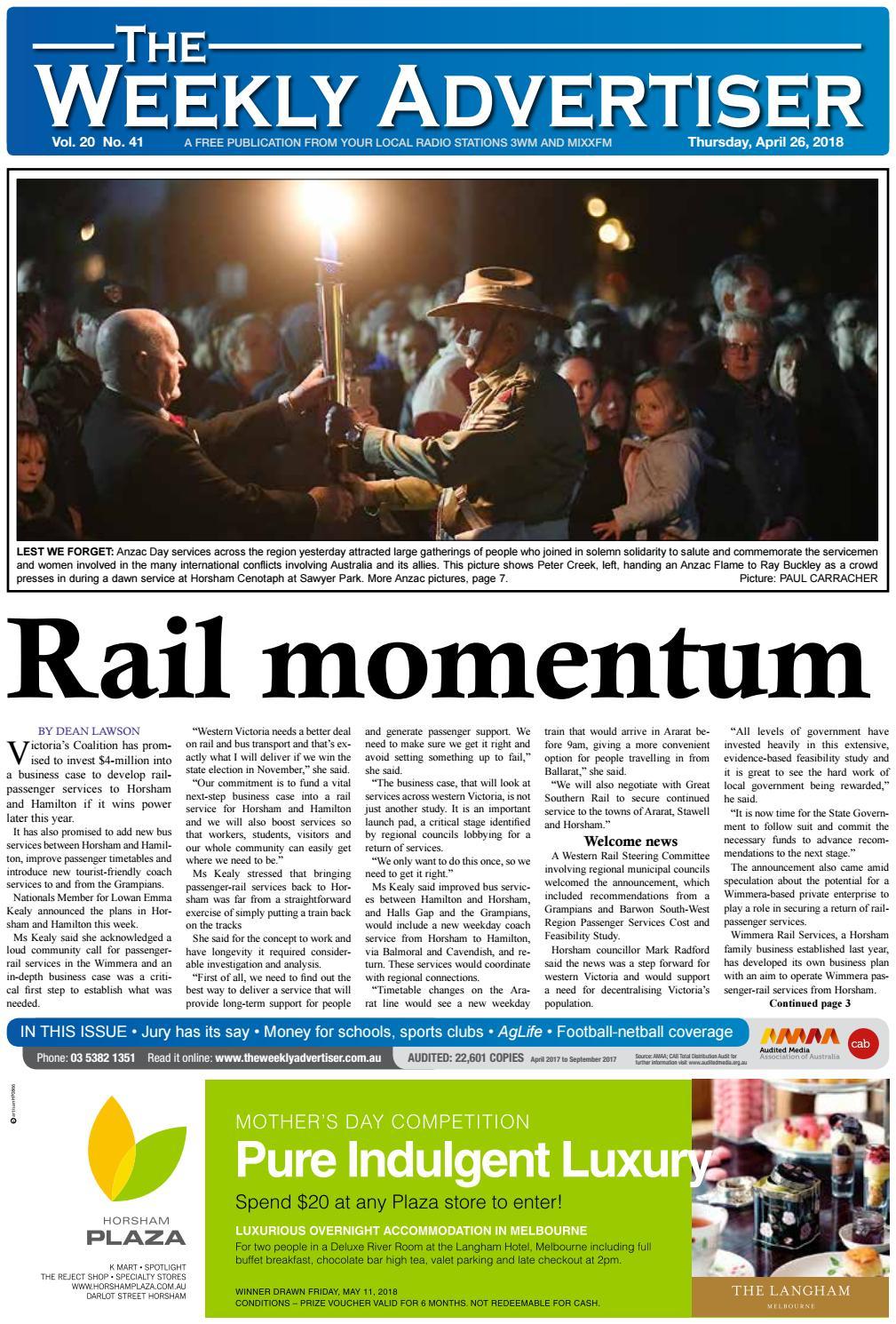 81e816dacd The Weekly Advertiser - Thursday