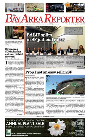 3b6971f8d2 April 26 2018 Edition of the Bay Area Reporter by Bay Area Reporter ...
