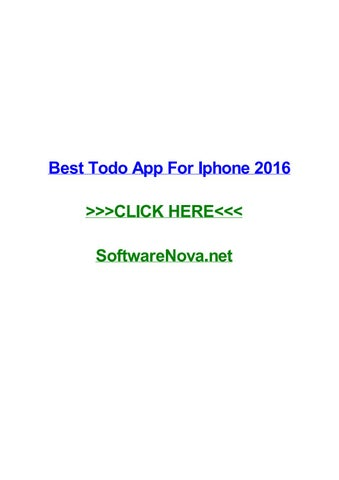 foto de Best todo app for iphone 2016 by carlqmrt - issuu