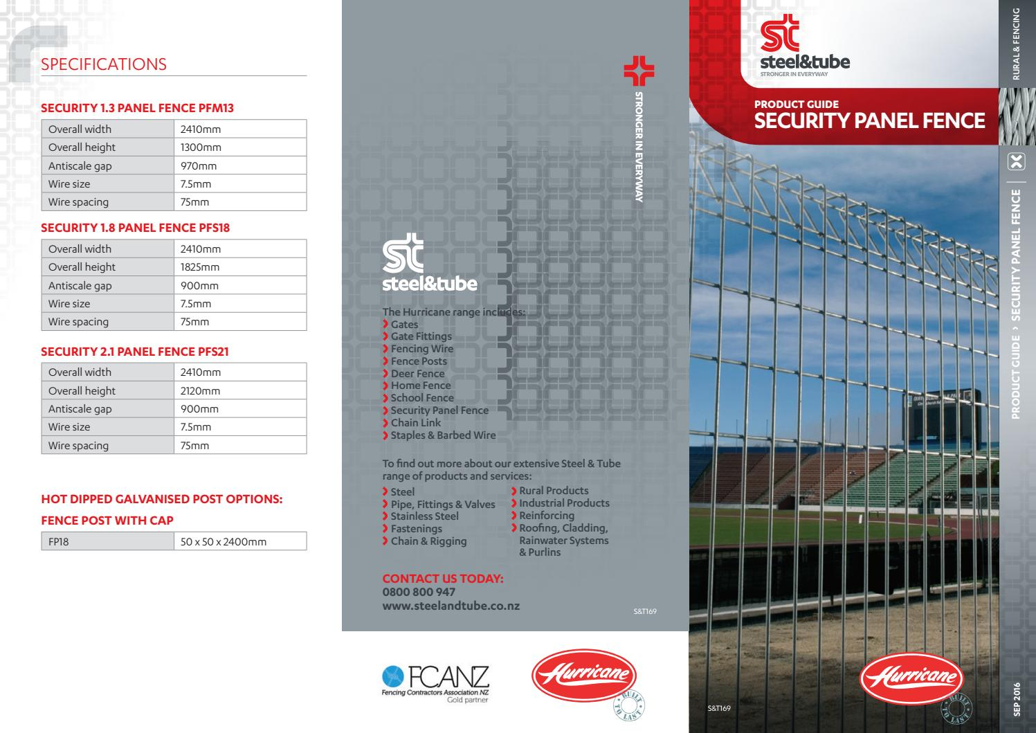 Hurricane – Security Fence Product Guide by Steel & Tube - issuu