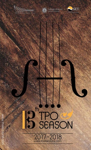 TPO 13th season program by College of Music, Mahidol University - issuu