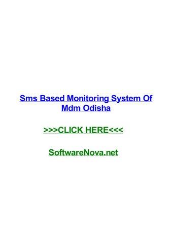 Sms based monitoring system of mdm odisha by cathyxkvkh - issuu