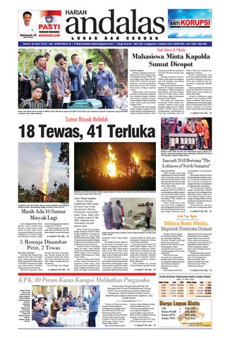 Epaper Andalas Edisi Kamis 26 April 2018 By Media Andalas Issuu