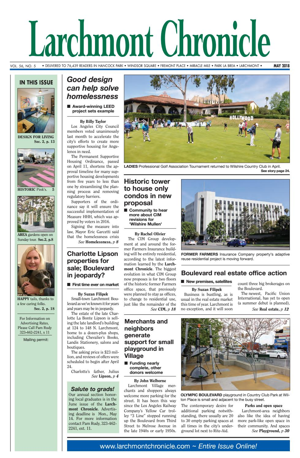 LC 05 2018 by Larchmont Chronicle - issuu