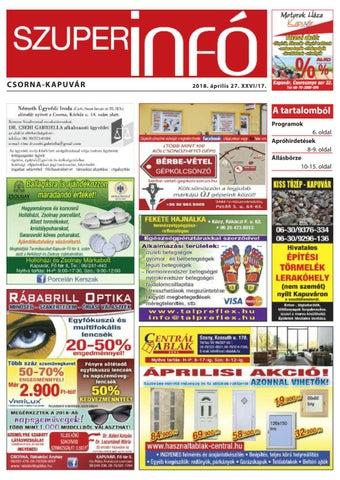 ef0557c2e983 Csorna-Kapuvár Szuperinfó 17. hét by Info Rbakoz - issuu
